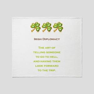 IRISH DIPLOMACY Throw Blanket
