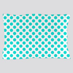 Teal Polka Dots Pillow Case