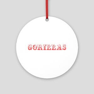 Gorillas-Max red 400 Ornament (Round)