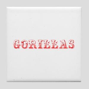 Gorillas-Max red 400 Tile Coaster