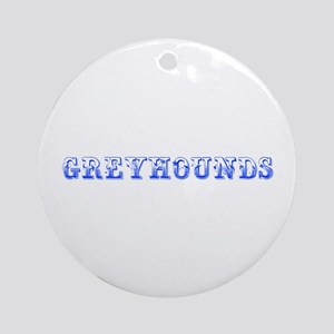 Greyhounds-Max blue 400 Ornament (Round)