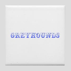 Greyhounds-Max blue 400 Tile Coaster