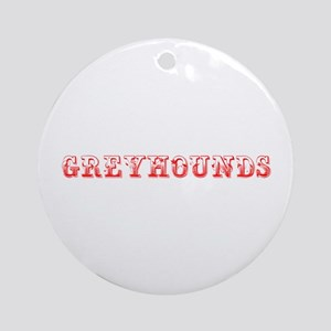 Greyhounds-Max red 400 Ornament (Round)
