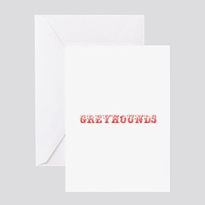Greyhounds-Max red 400 Greeting Cards