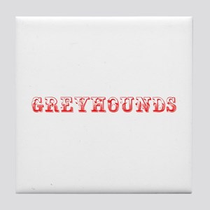 Greyhounds-Max red 400 Tile Coaster