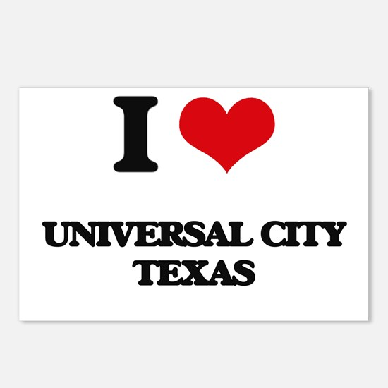 I love Universal City Tex Postcards (Package of 8)