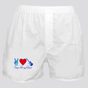 Peace, Love and Music Boxer Shorts