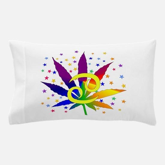 Rainbow Marijuana Cancer Pillow Case