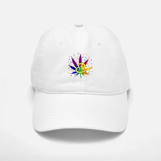Rainbow Marijuana Cancer Baseball Baseball Cap