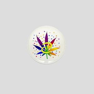 Rainbow Marijuana Cancer Mini Button