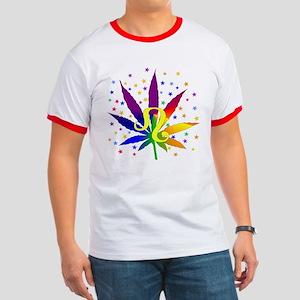 Rainbow Marijuana Leo Ringer T