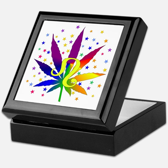 Rainbow Marijuana Leo Keepsake Box