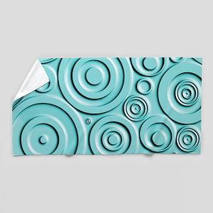 Teal Circles Beach Towel