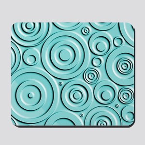Teal Circles Mousepad