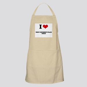 I love West University Place Texas Apron