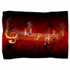 Hot Music Notes Pillow Sham