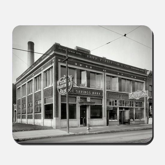 Detroit circa 1912. Dime Savings Bank, W Mousepad