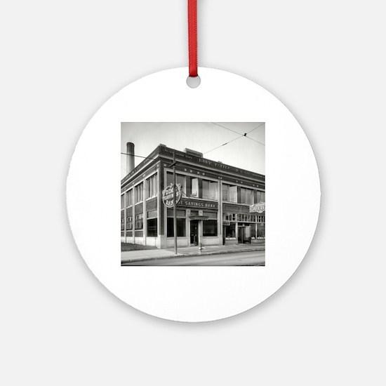 Detroit circa 1912. Dime Savings Ornament (Round)