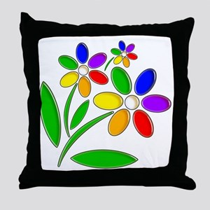 Jelly Flowers Throw Pillow