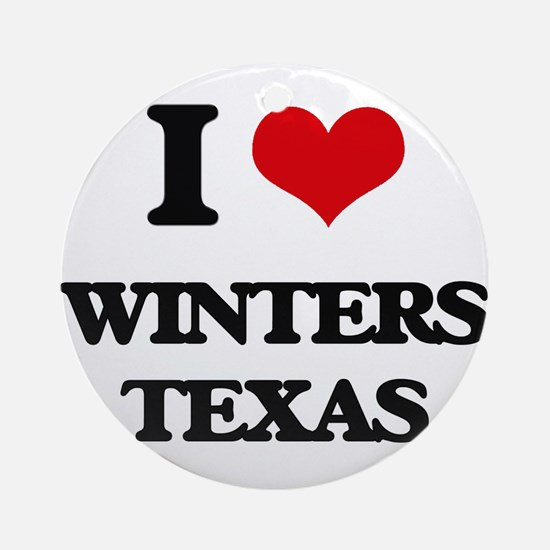 I love Winters Texas Ornament (Round)