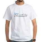 Ann Sleeps With Dogs White T-Shirt