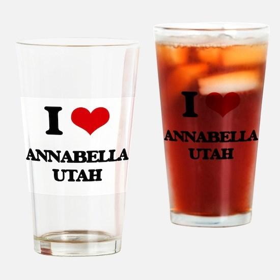I love Annabella Utah Drinking Glass
