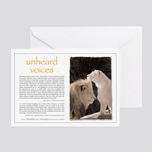 Unheard Voices Lions Greeting Cards (Pk of 10)