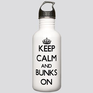 Keep Calm and Bunks ON Stainless Water Bottle 1.0L