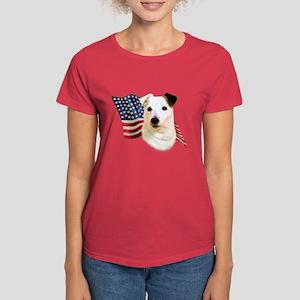 Jack Russell Terrier Flag Women's Dark T-Shirt