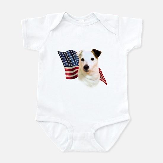 Jack Russell Terrier Flag Infant Bodysuit