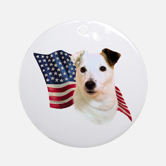 Jack Russell Terrier Flag Ornament (Round)