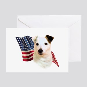 Jack Russell Terrier Flag Greeting Cards (Pk of 10