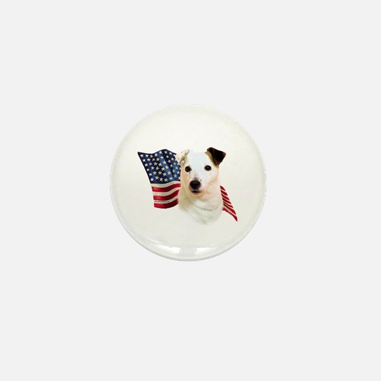 Jack Russell Terrier Flag Mini Button