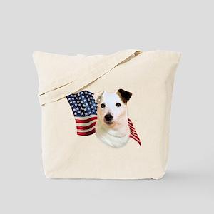 Jack Russell Terrier Flag Tote Bag
