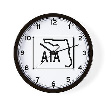 Route A1A, Florida Wall Clock