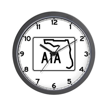 Route A1A, Florida Wall Clock