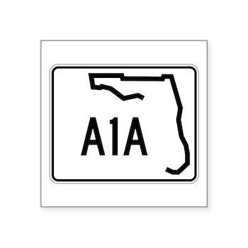 Route A1A, Florida Square Sticker 3