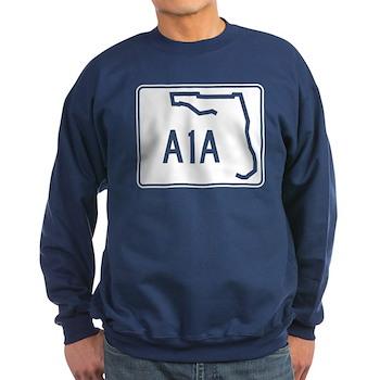 Route A1A, Florida Sweatshirt (dark)