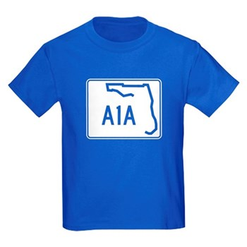 Route A1A, Florida Kids Dark T-Shirt