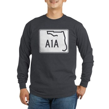 Route A1A, Florida Long Sleeve Dark T-Shirt