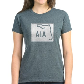 Route A1A, Florida Women's Dark T-Shirt