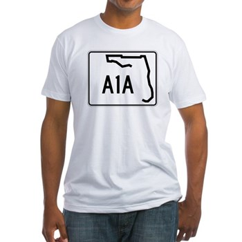 Route A1A, Florida Fitted T-Shirt