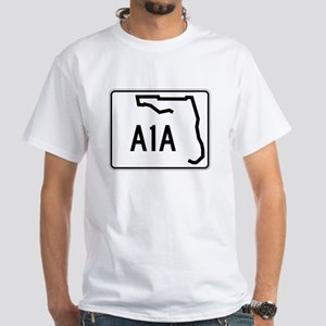 Route A1A, Florida White T-Shirt