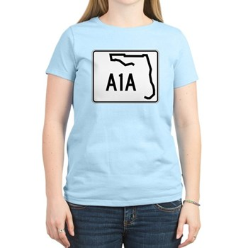 Route A1A, Florida Women's Light T-Shirt