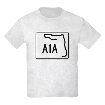 Route A1A, Florida Kids Light T-Shirt