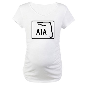 Route A1A, Florida Maternity T-Shirt