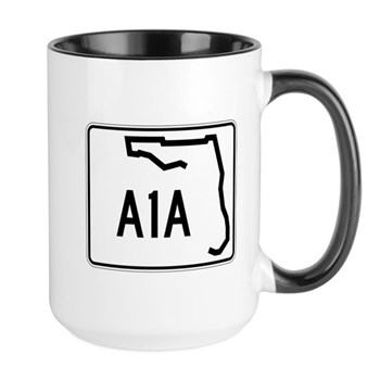 Route A1A, Florida Large Mug