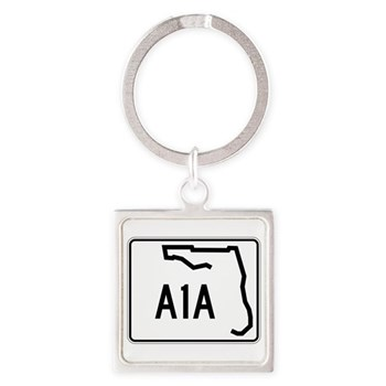 Route A1A, Florida Square Keychain