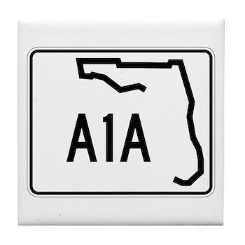 Route A1A, Florida Tile Coaster