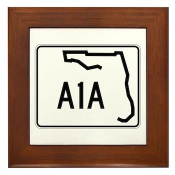 Route A1A, Florida Framed Tile